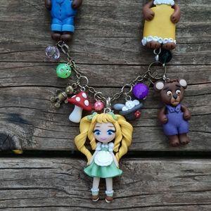 Goldilocks Characters Necklace 🍲🌞🧸🍄❤